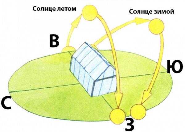 Схема размещения парника